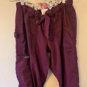 2/$18 Purple / Cargo Style / Scrubs / koi